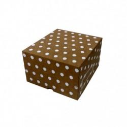 Cajas Cartón Decoradas 20x18x12 Lunares Blancos
