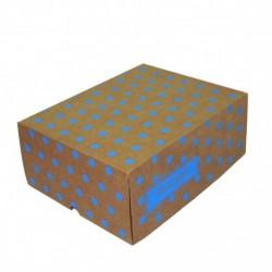 Cajas Cartón 30x22x12 Felicidades Lunares Celeste