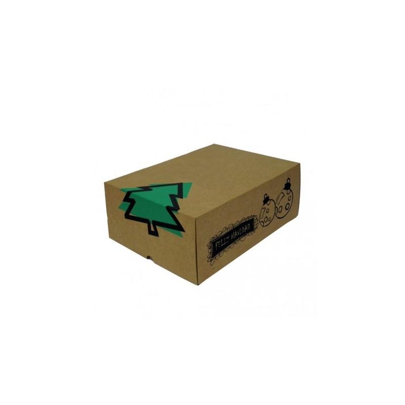 Cajas de cart n felicidades 30x22x12 decorada con motivos - Cajas de carton de navidad ...